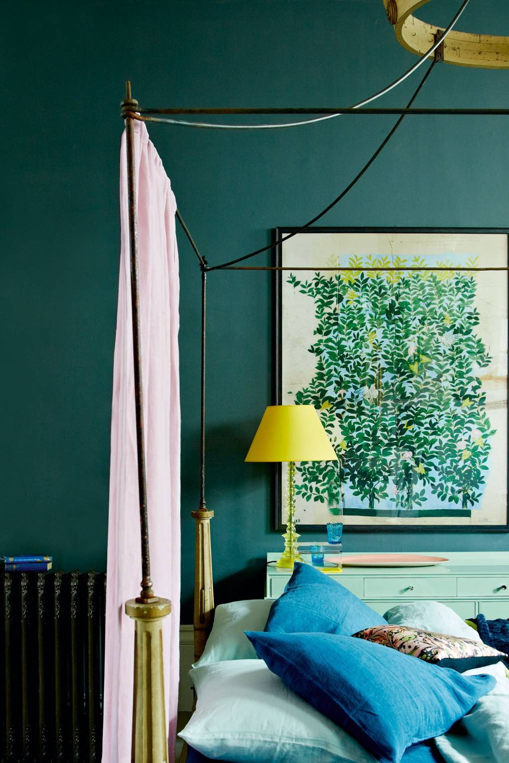 Teal Blue Bedroom Wall Paint Colour Ideas House Garden
