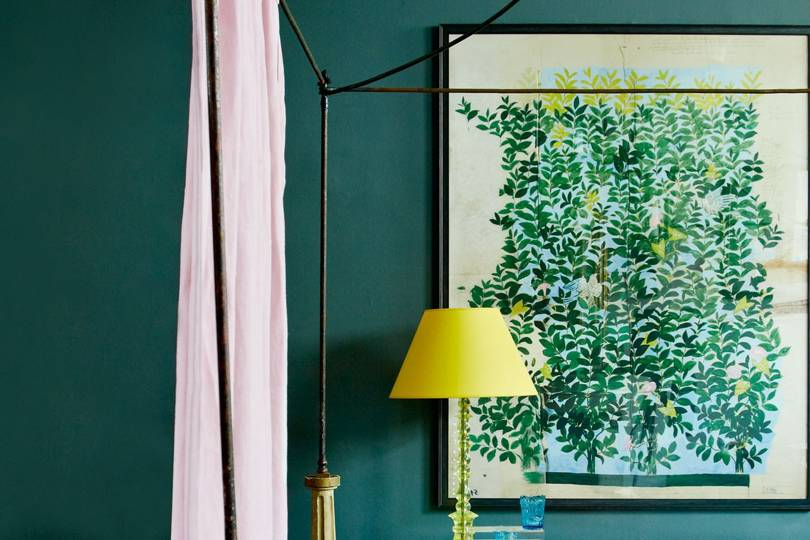 Teal Blue Bedroom Wall Paint Colour Ideas House Amp Garden