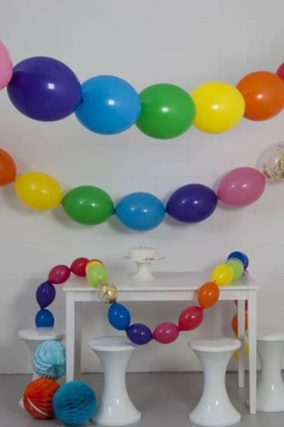 Rainbow Bright Balloon Garland
