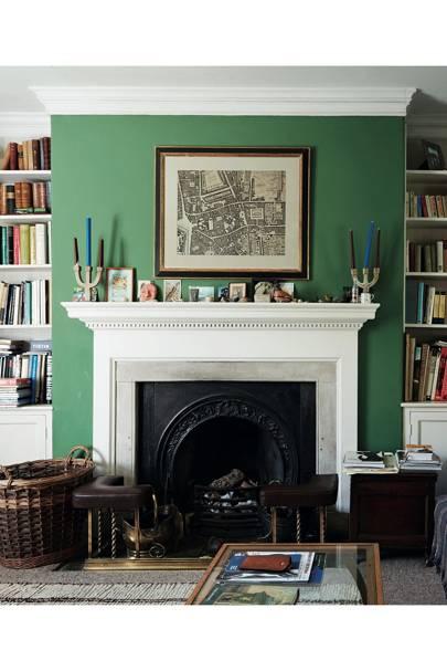 Leaf-green sitting room