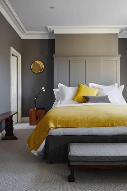 Mole's Breath and Mustard Bedroom