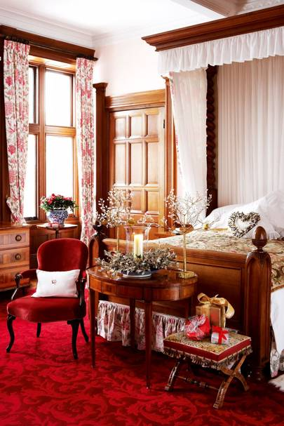 Country House Christmas Bedroom
