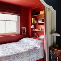 Built-in Niche bed with Shelves & Curtain