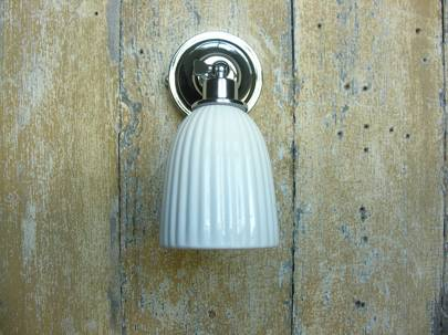Albion Bathroom Light with Ceramic Shade, £29