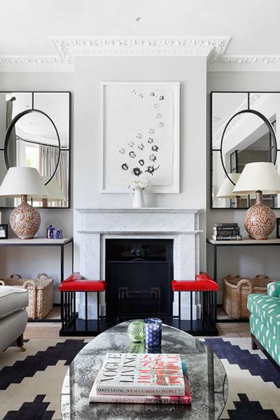 Mixing Patterns in a Small Living Room
