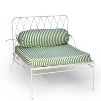 Metal Chair with Striped Cushion