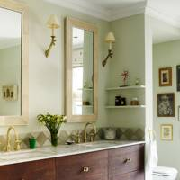 Green Bathroom with Emery & Cie Tiles