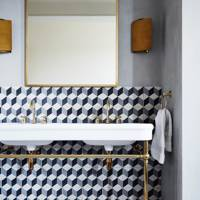 Bathroom with Geometric Tiles