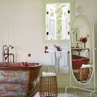 White Rustic Bathroom