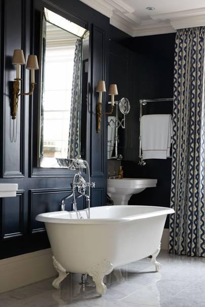 Navy Blue Bathroom