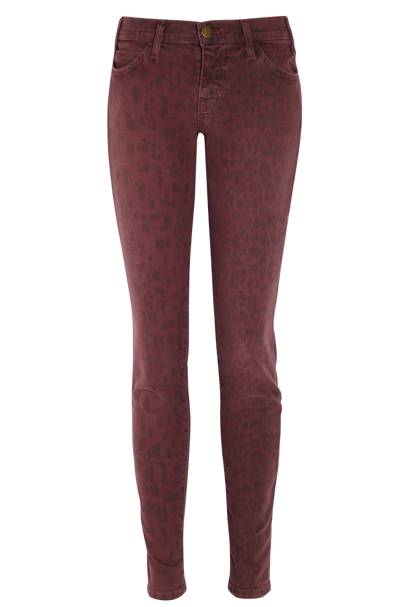 The Ankle Skinny Low-Rise Printed Jeans