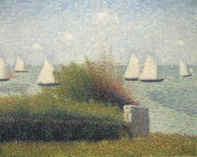 GEORGES SEURAT (1859–1891) La rade de Grandcamp (Le port de Grandcamp)