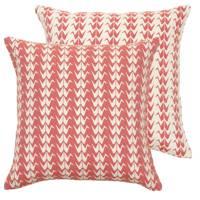 Coral Crane Cushion