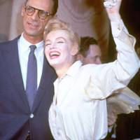 Marilyn Monroe and Arthur Miller after their civil wedding ceremony in New York