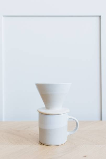 2. Ceramic Mug and Coffee Filter Set - Cashmere