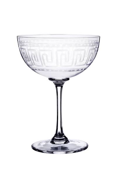 Greek Key Champagne Glasses
