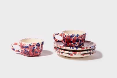Ceramic Espresso Mug & Saucer