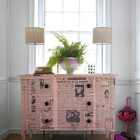 Renovate Drawers with Newspaper
