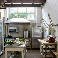 Industrial-Style Kitchen in Restored House