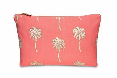 July 2: Elizabeth Scarlett Palmier Coral Pouch , £20