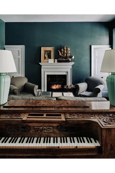 Library Piano - Traditional Bath B&B