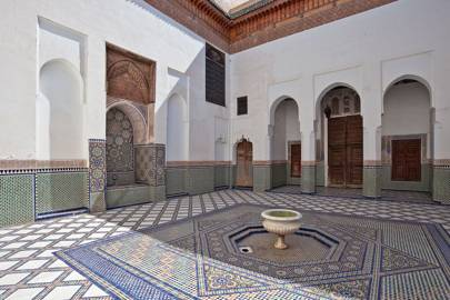 Covered Courtyard with Coloured Zellij Tiles