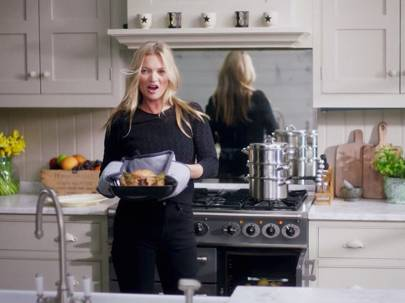 Watch Kate Moss cook a Sunday lunch for Vogue