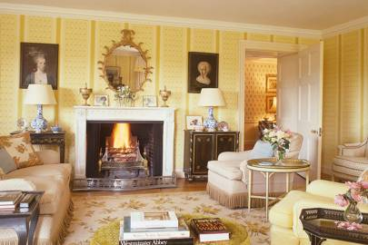 The drawing room at Duntisbourne