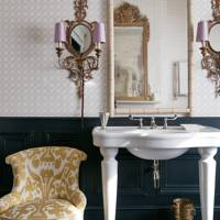 Bathroom Sink with Ornate Lighting