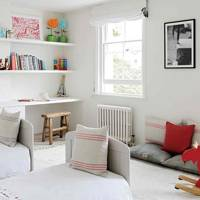 White Twin Kids' Room