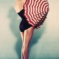 A promotional swimsuit shot of Marilyn Monroe