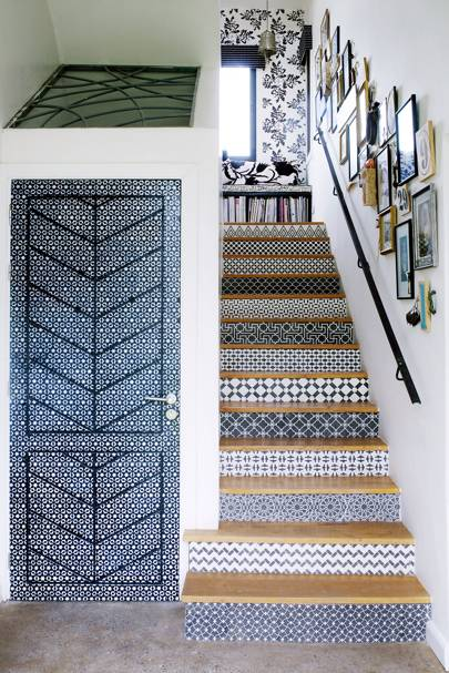 Patterned Moroccan Tile Effect Staircase