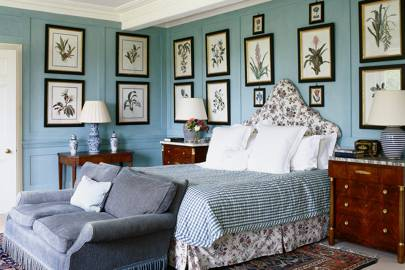 Traditional Pale Blue Bedroom | Chintz Decoration Ideas