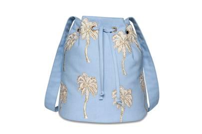 July 9: Elizabeth Scarlett Palmier Chambray Bucket Bag, £40