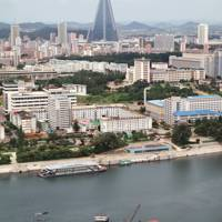 Another view from the top of the Tower of the Juche Idea