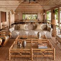 Outdoor Bamboo Living Room