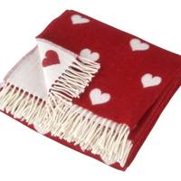 December 14: Cologne & Cotton Red Heart Lambswool Throw, £115