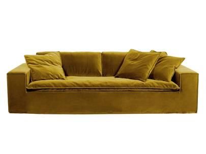 Luca velvet sofa, amber £2,695