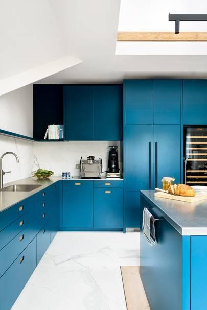 Kitchen Case Study: a modern teal kitchen in Hampstead
