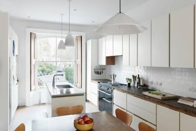 Modern White Narrow Kitchen - Kitchen Design Ideas | House ...