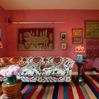 Pattern & Colour Mix in Vibrant Living Room