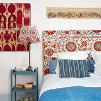 Bedroom with Suzani Headboard