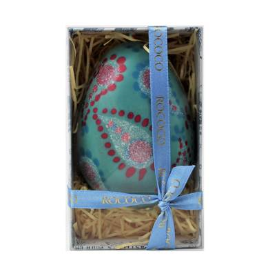 Rococo blue hand-painted Easter Egg, £27.50