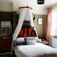 Small Bedroom with Bed Canopy