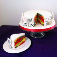 Alice in Wonderland Rainbow Marble Sponge