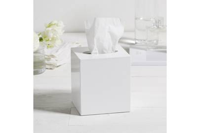 January 22: The White Company Lacquer Tissue Box Cover in White, £20