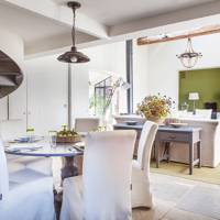 White Open-Plan Dining Area