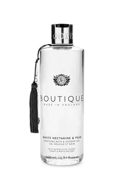 August 25: Boutique White Nectarine and Pear Bath & Shower Gel, £6
