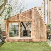 Wooden Writer's Shed in Hackney