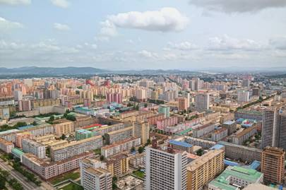 A view from the top of the Tower of the Juche Idea